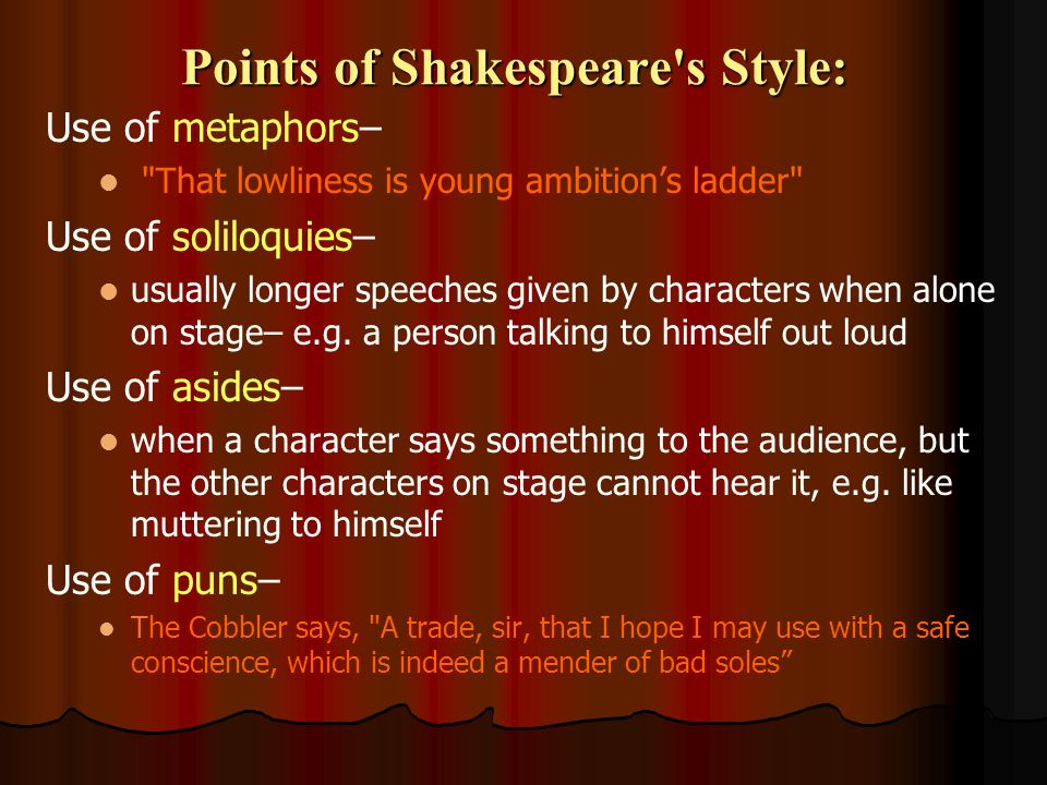 shakespeare s use metaphors play you like citations