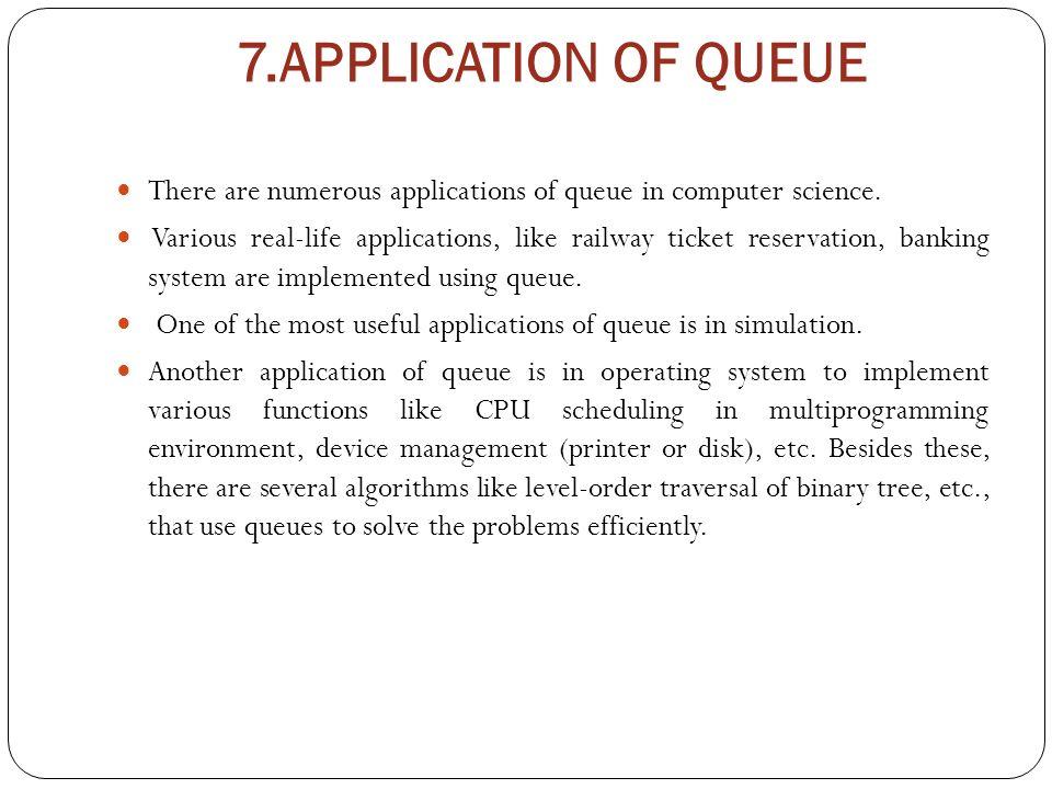 queue applications CHP-4 QUEUE Cont…. 7.DEQUE Deque (short form of double-ended queue ...
