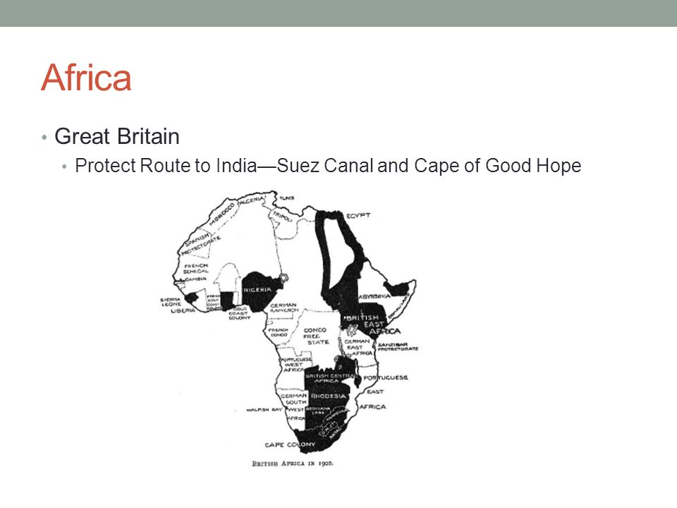 Africa Great Britain Protect Route to India—Suez Canal and Cape of Good Hope