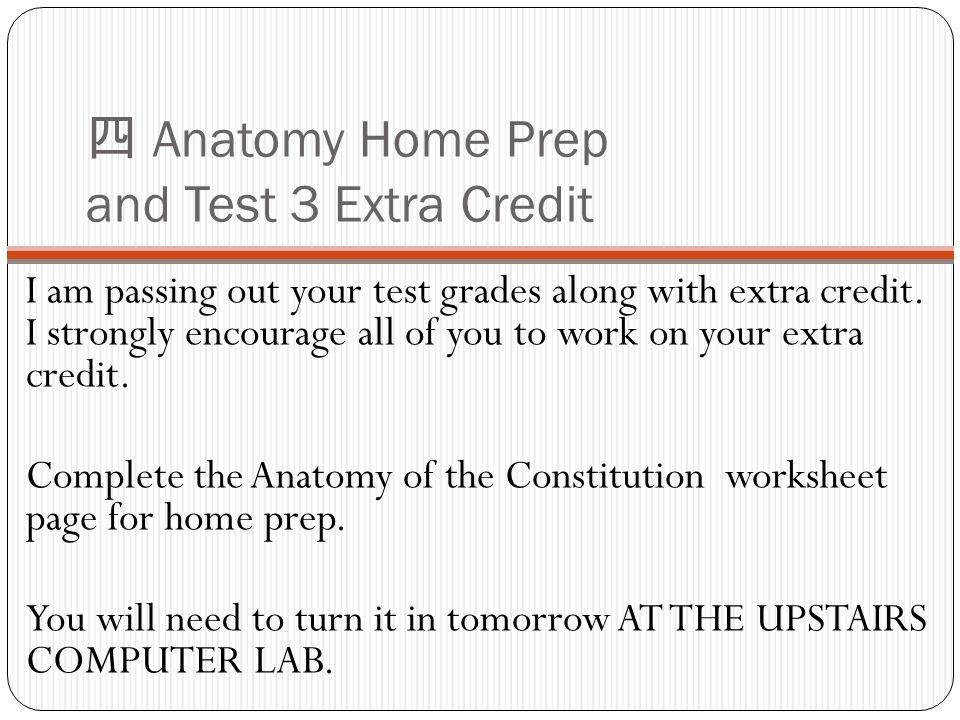 extra credit anatomy