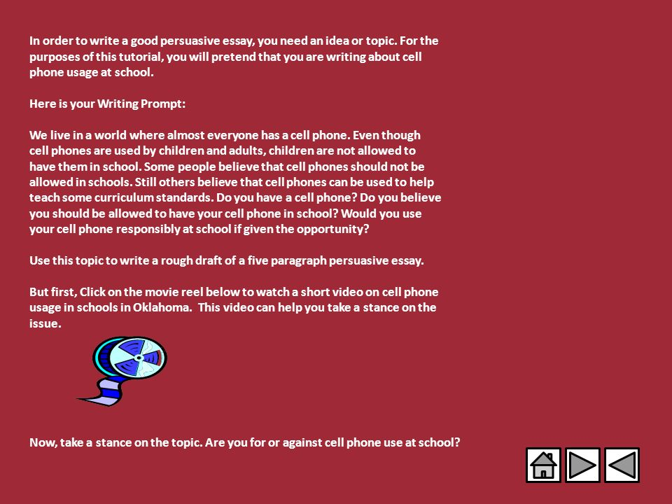 five paragraph persuasive essay examples