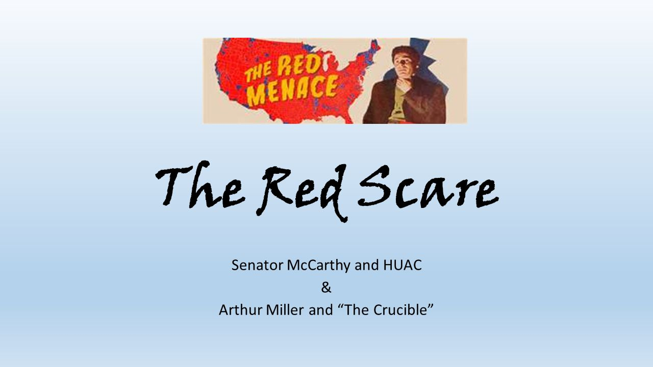 the mccarthyism era in arthur millers the crucible Home → sparknotes → literature study guides → crucible the crucible arthur miller table of contents plot overview summary & analysis act i.