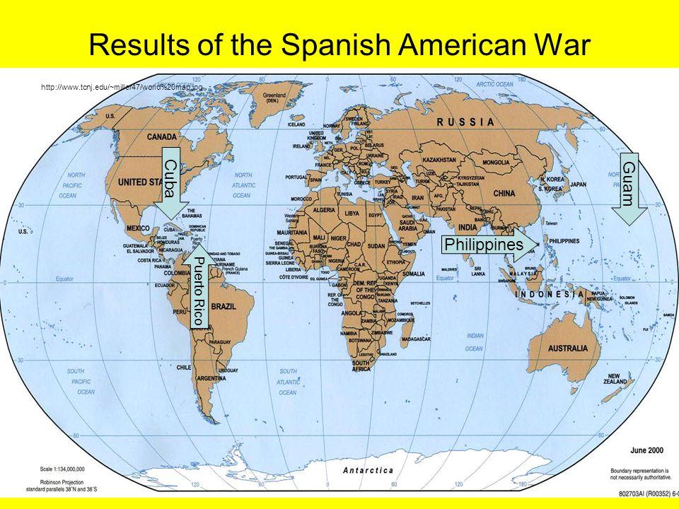 Us history ii sol usii4 the spanish american war economic 14 results of the spanish american war httptcnjmiller47world20mapg cuba puerto rico philippines guam gumiabroncs Gallery