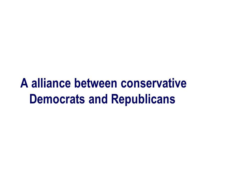 A alliance between conservative Democrats and Republicans