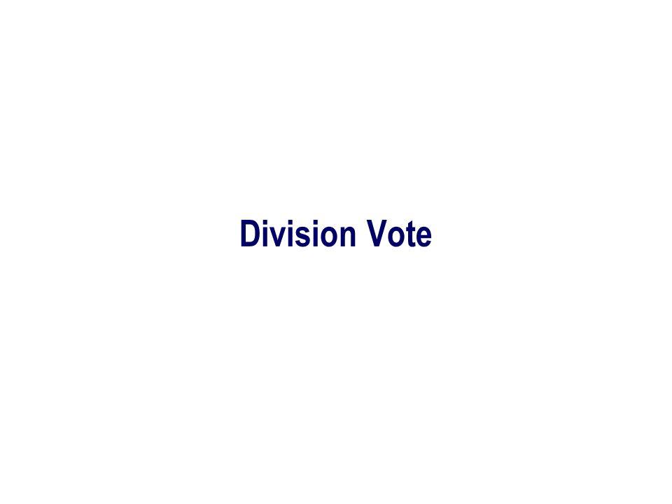 Division Vote