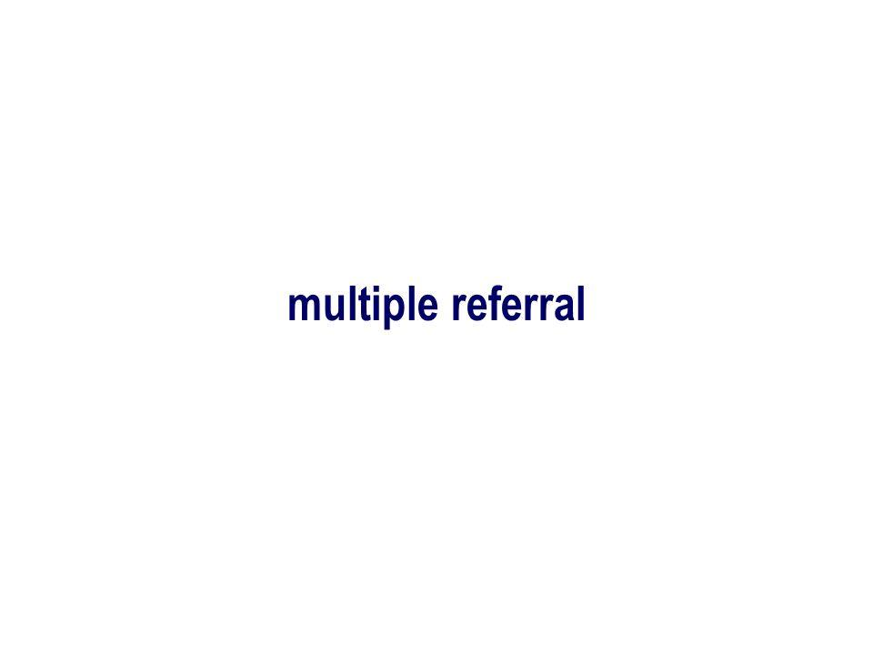 multiple referral