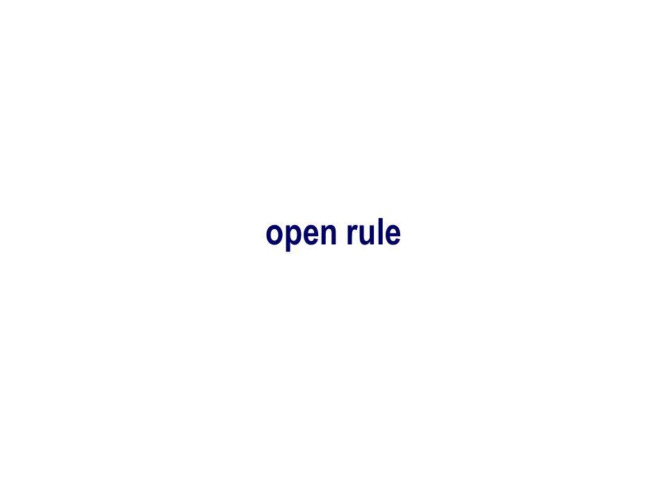 open rule