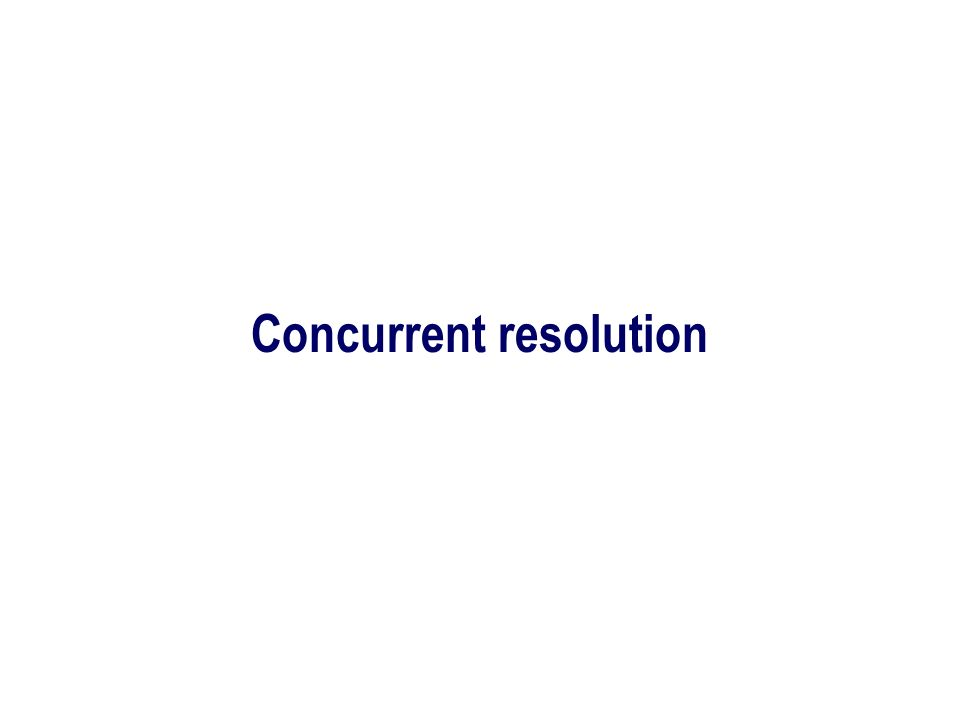 Concurrent resolution