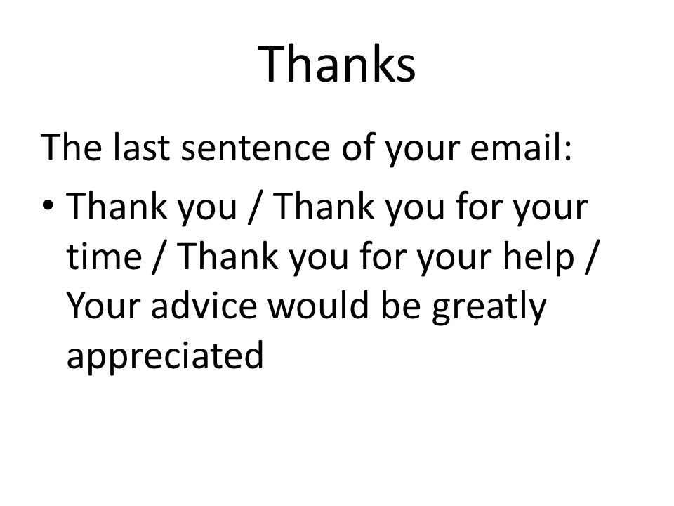 email thanks for your time