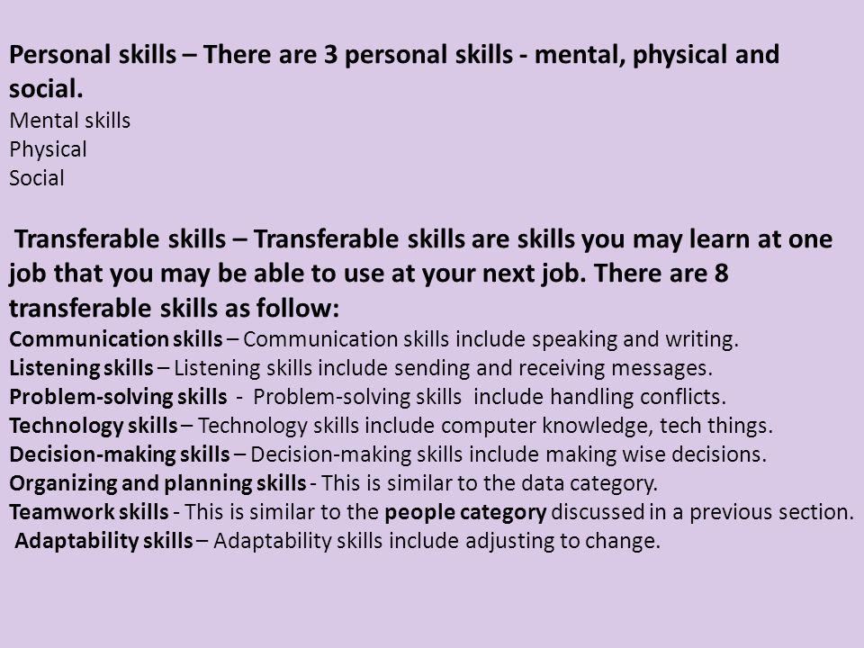 list of job weaknesses