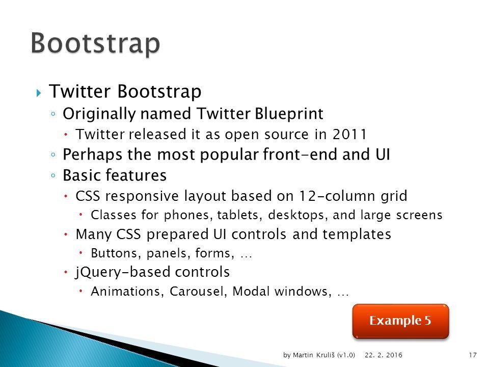 Martin kruli by martin kruli v101 ppt download twitter bootstrap originally named twitter blueprint twitter released it as open source in malvernweather Images