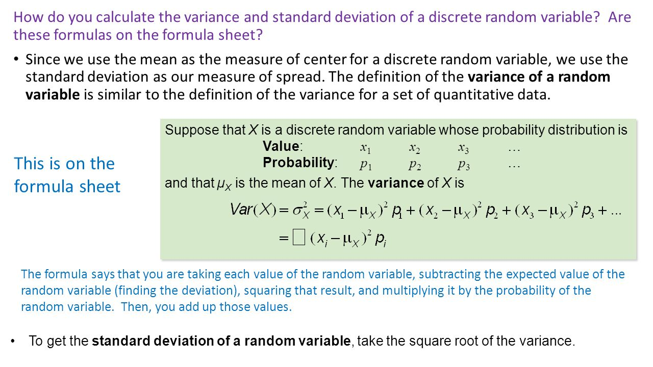 13 How Do You Calculate The Variance And Standard Deviation