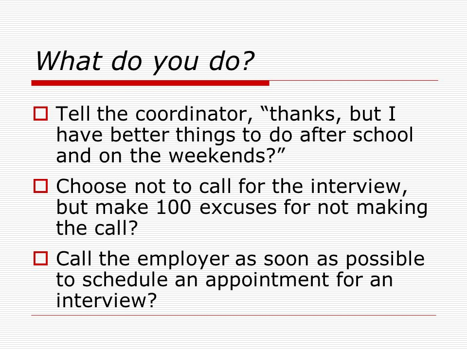 interview scenarios