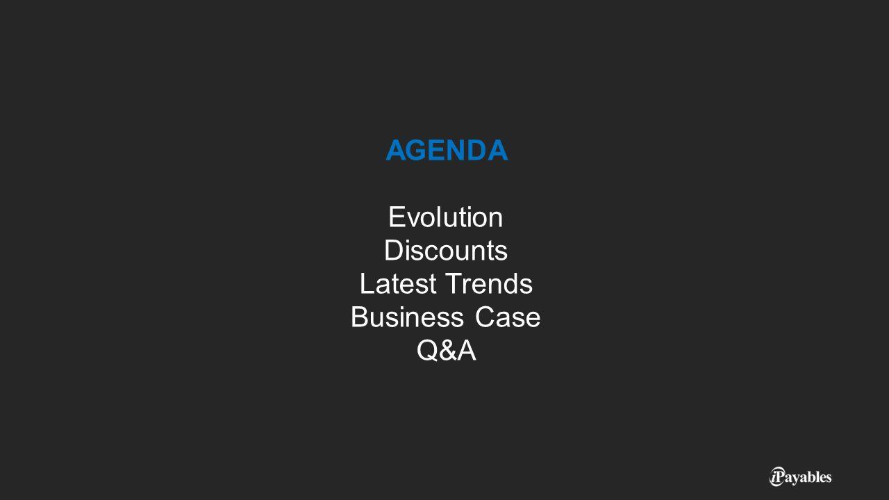 AGENDA Evolution Discounts Latest Trends Business Case Q&A