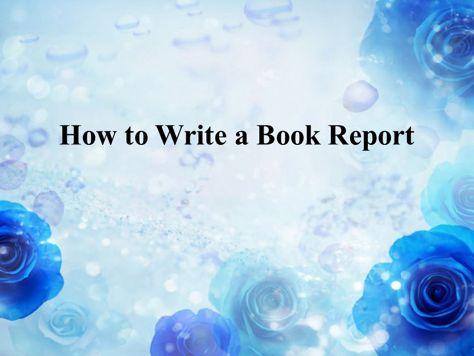 how to write an introduction for a book report