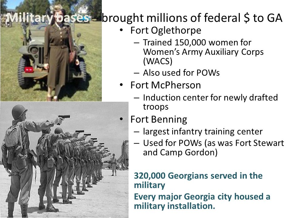World war ii what was the impact of world war ii on georgia ppt 5 military bases brought millions of publicscrutiny Gallery
