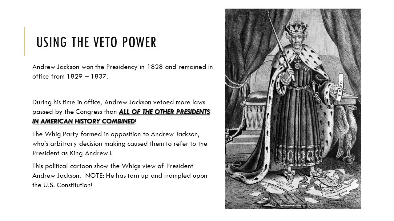 the veto power What power does the us constitution grant the president over laws passed by congress learn more about the purpose of veto power and.