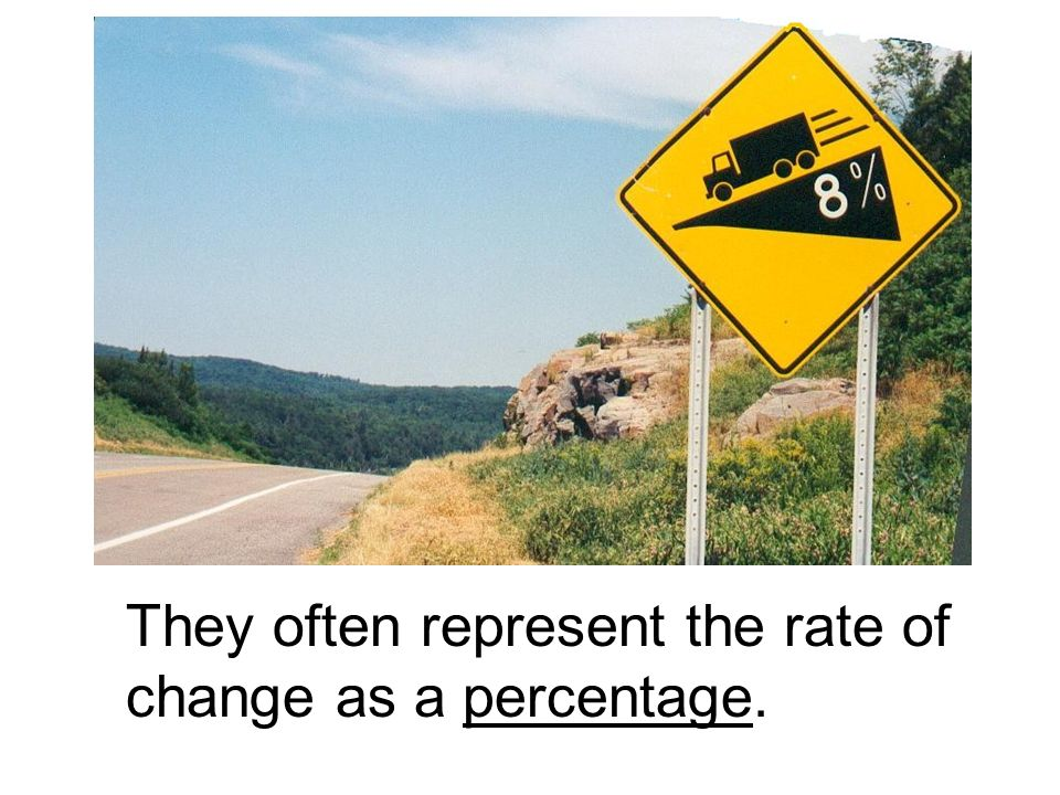 Chapter 22 slope and rate of change things to know from chapter 9 they often represent the rate of change as a percentage ccuart Images