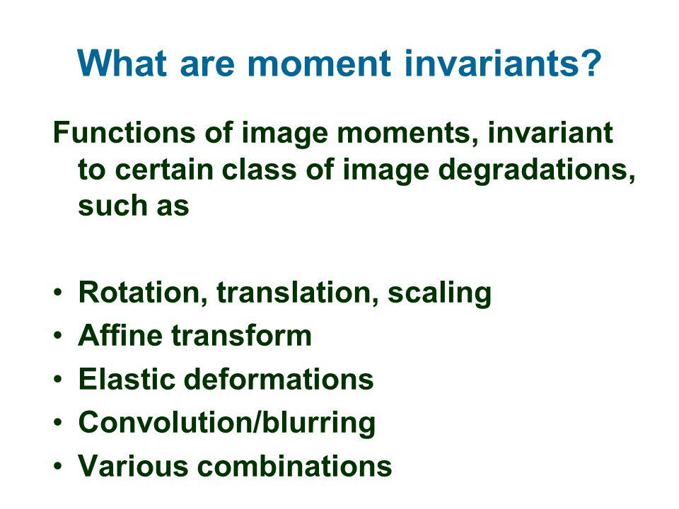 affine moment invariant ppt