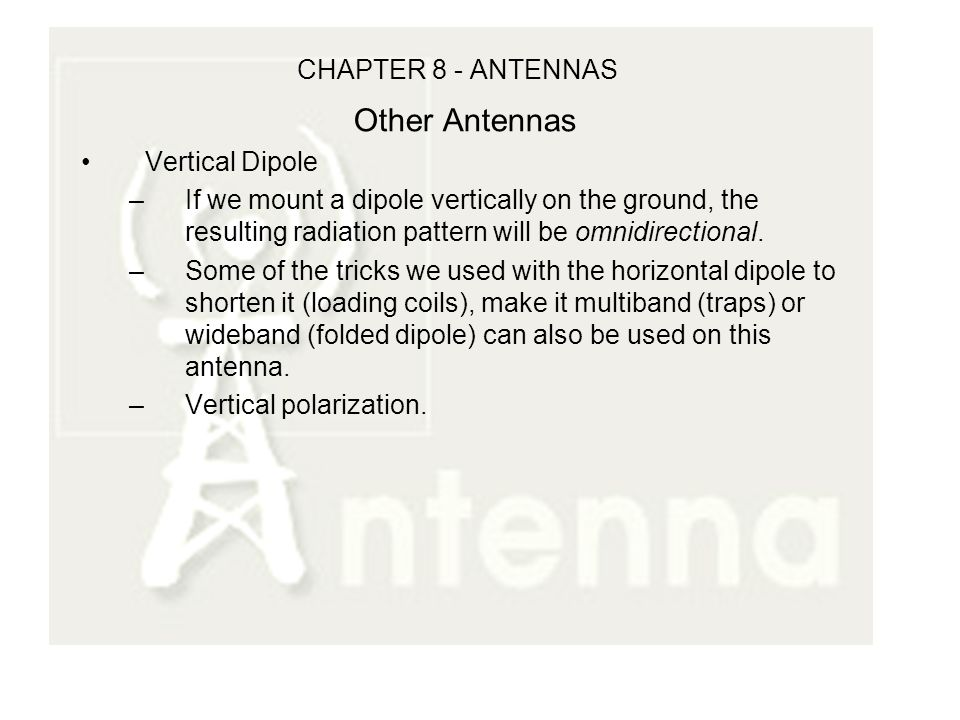 CHAPTER 8 - ANTENNAS CHAPTER 7 Review Characteristic Impedance, Z ...
