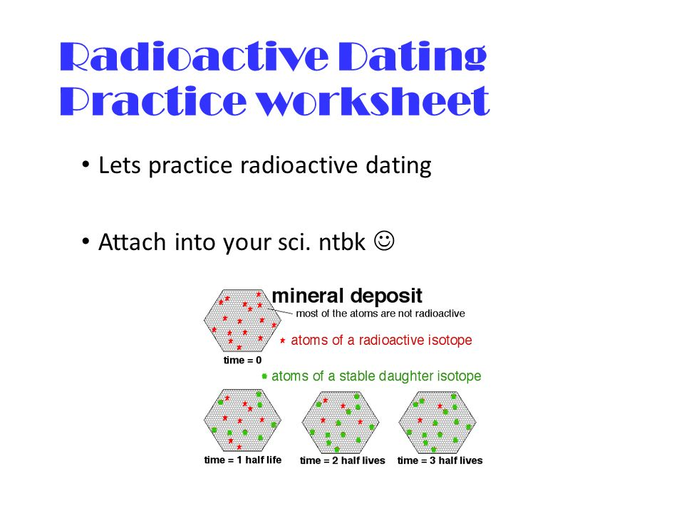 Monday 282016 Agenda Evolution Part II Activity Darwins – Radioactive Dating Worksheet