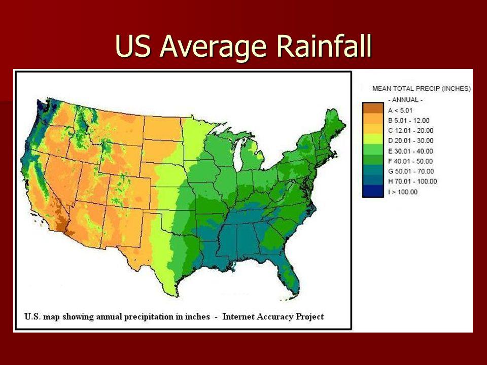 Us Average Precipitation Map - Us average rainfall map