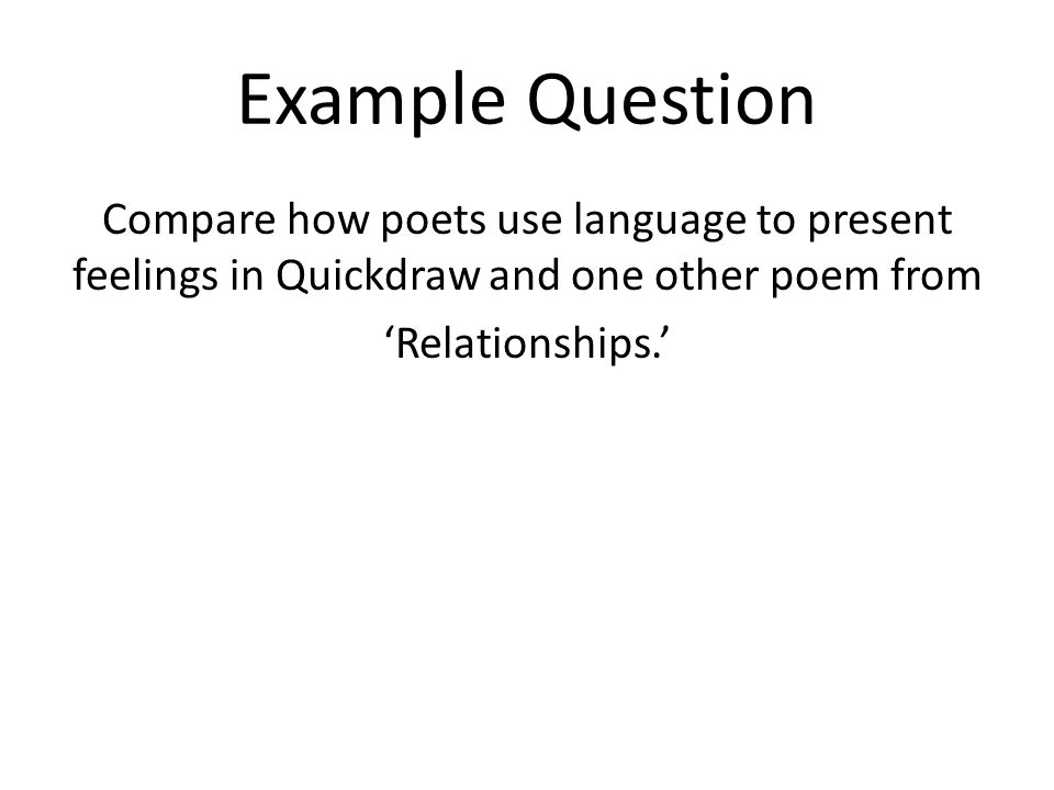 Question about poetry?