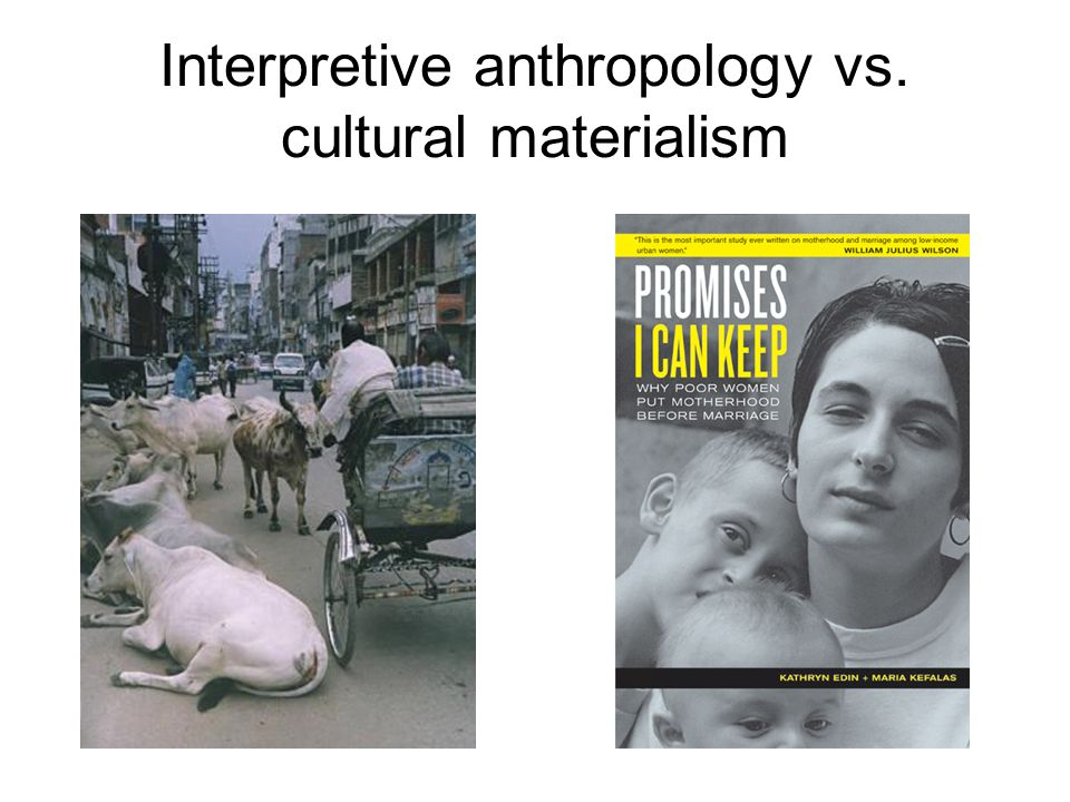 Interpretive anthropology vs. cultural materialism