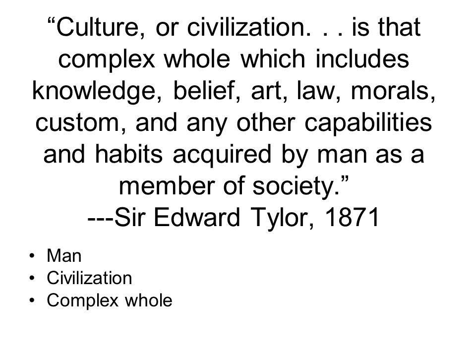 Culture, or civilization...