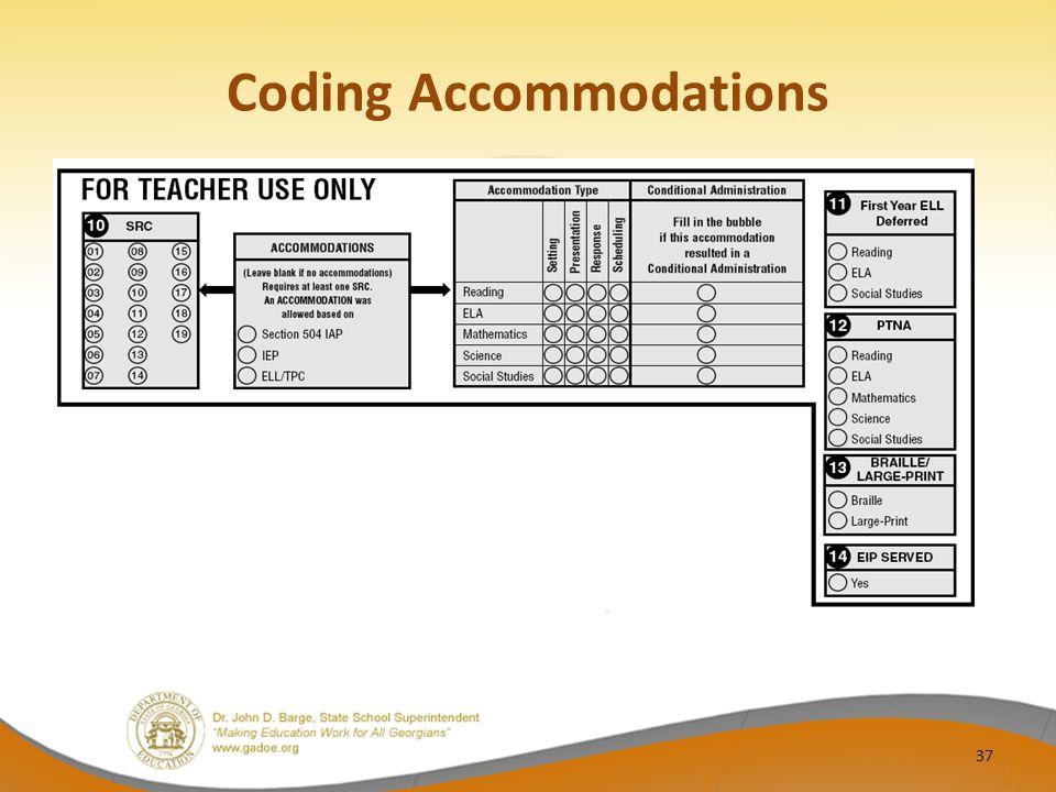 Coding Accommodations 37