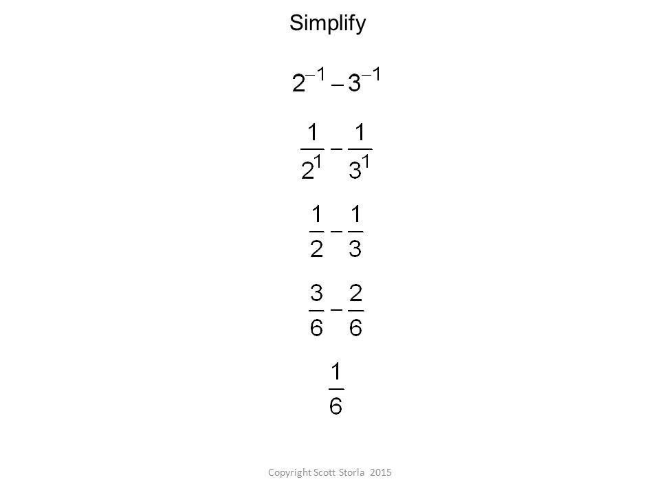 Simplify Copyright Scott Storla 2015
