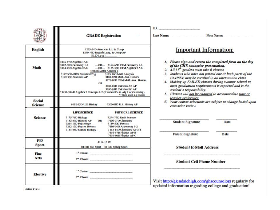 Registration Presentation. GHS Counselors Mrs. Arsine Hovannesian ...