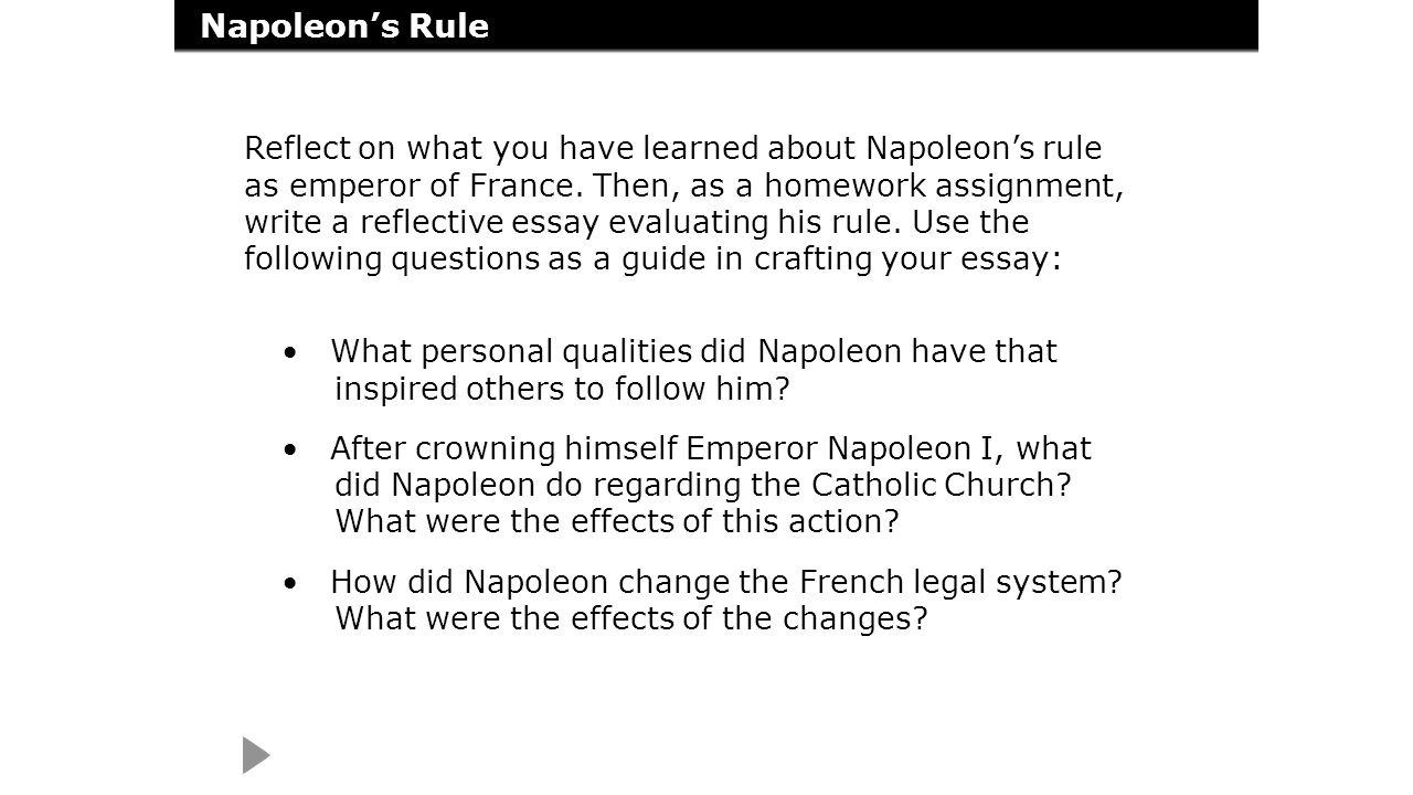 napoleonic code essay