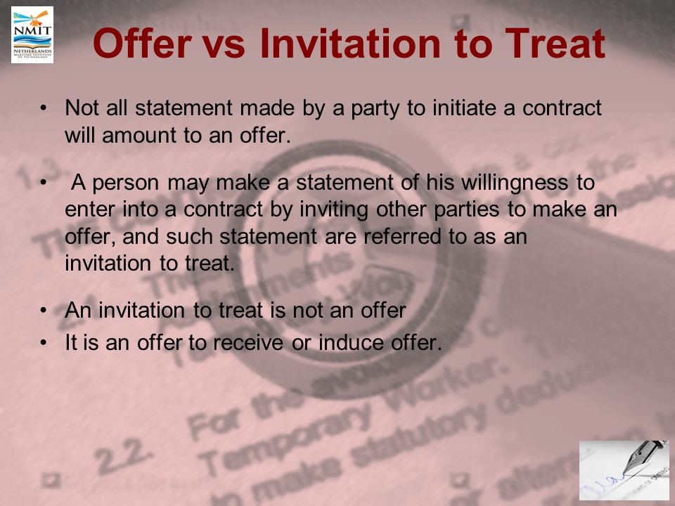 The law of contract introduction definition of contract an 7 offer vs invitation to treat stopboris