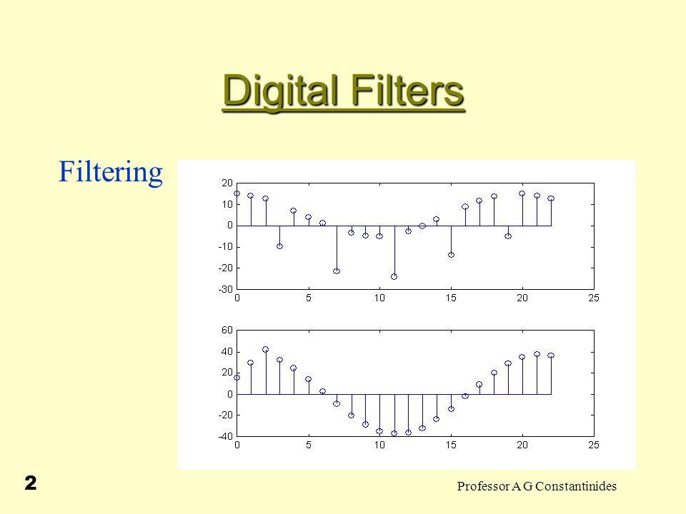 Professor A G Constantinides 2 Digital Filters Filtering