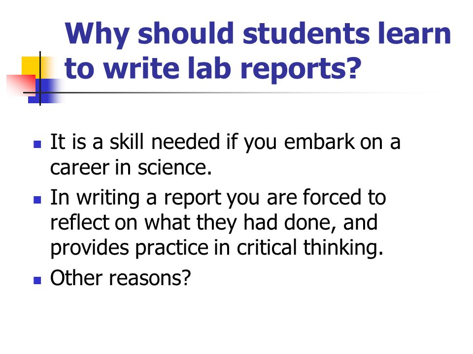 writing a formal lab report Do you happen to be struggling with writing your lab report we have the best writers who can write a good story based on your requirements and are sure to do this promptly.