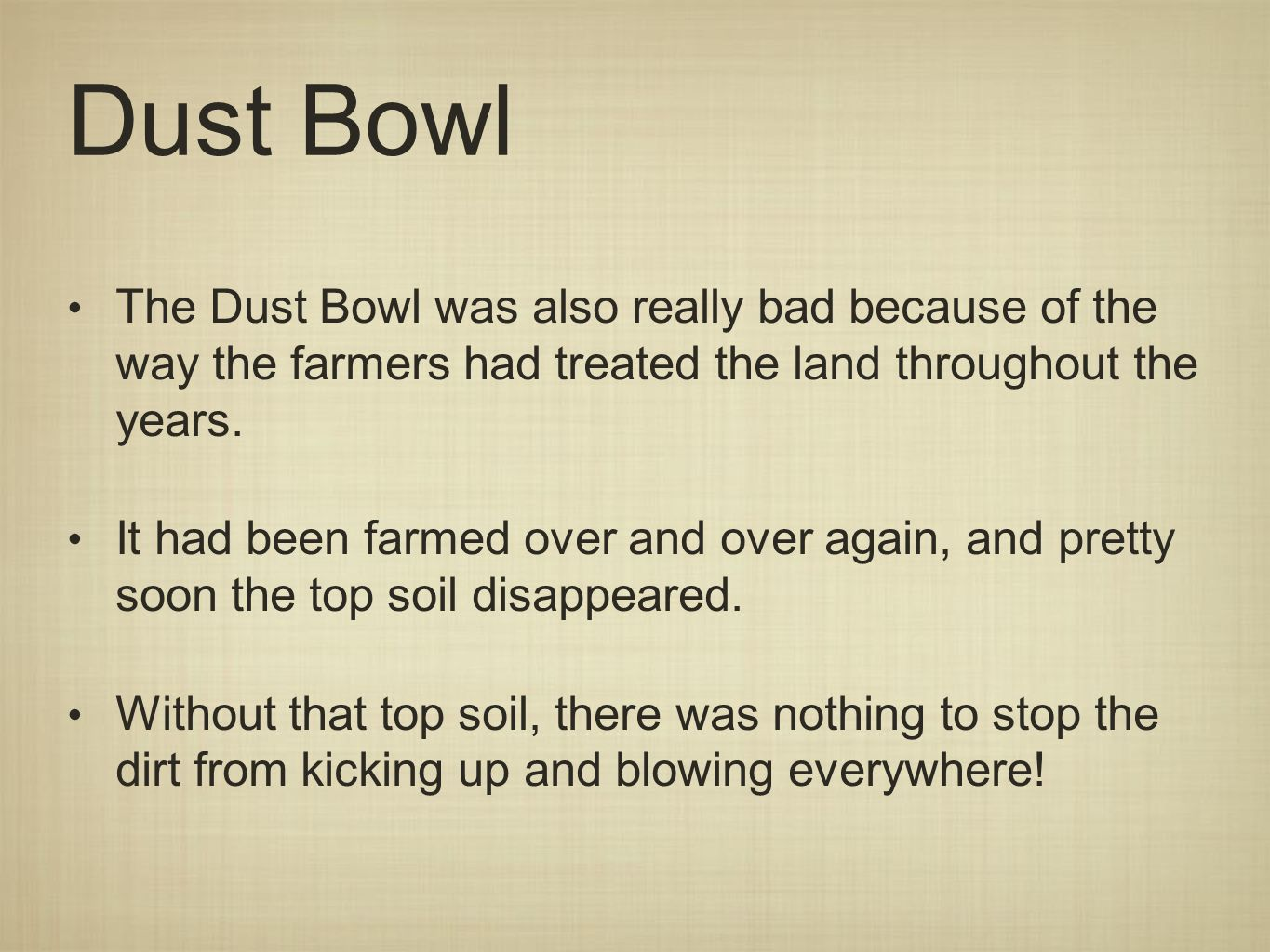 The Great Depression Dust Bowl Objective By the end of the – Dust Bowl Worksheet