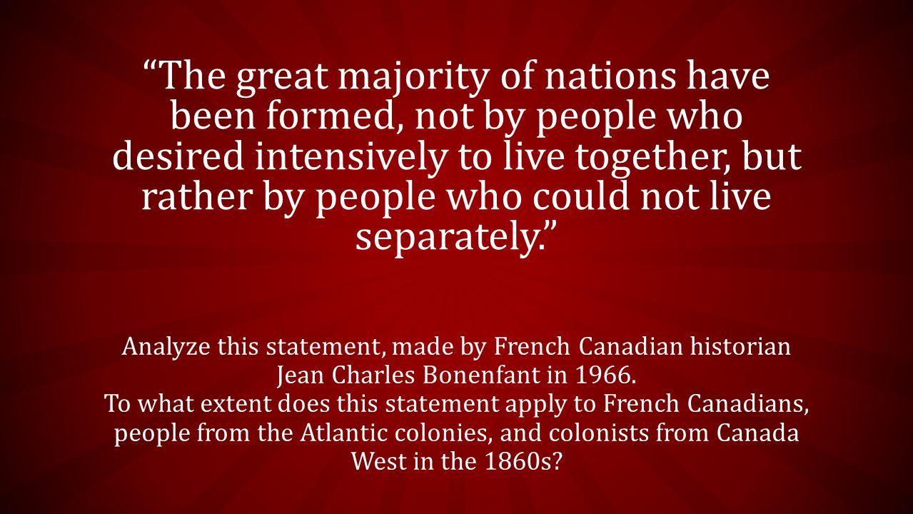 canadian history 1860s factors to confederation