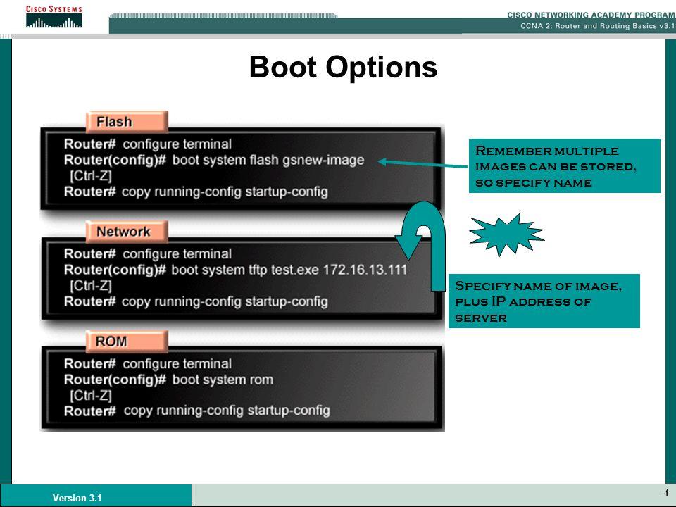1 Version 3 1 Module 5 Managing Cisco IOS Software  - ppt
