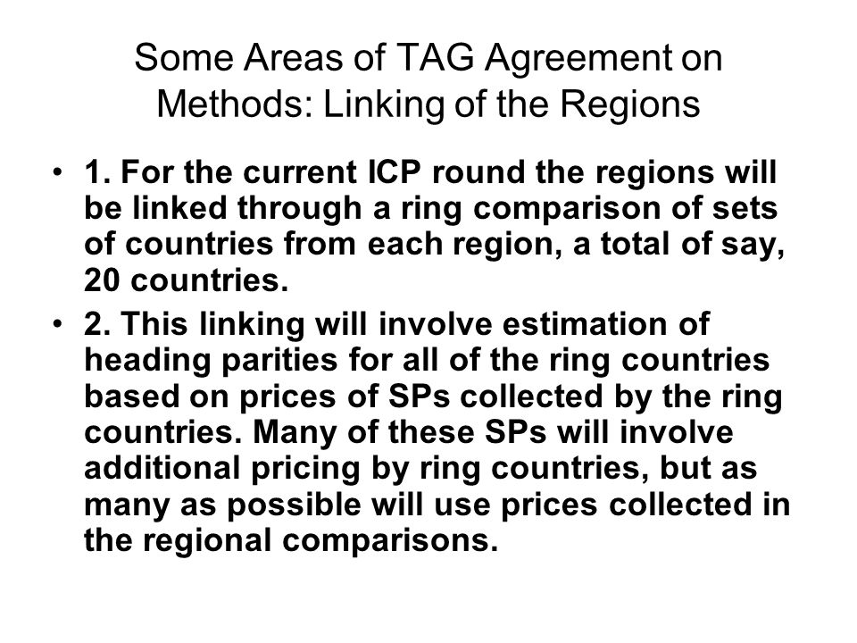 Tag views on the specification lists from africa and asia response some areas of tag agreement on methods linking of the regions 1 platinumwayz