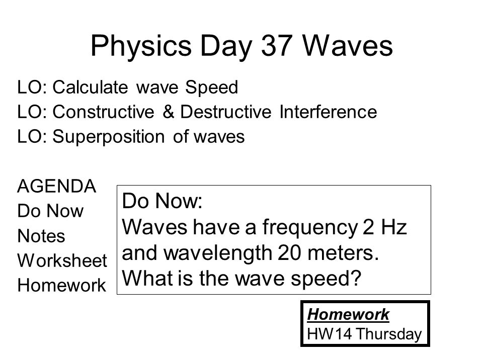 Wave Statistics Worksheet - Name Wave Statistics Worksheet Date ...