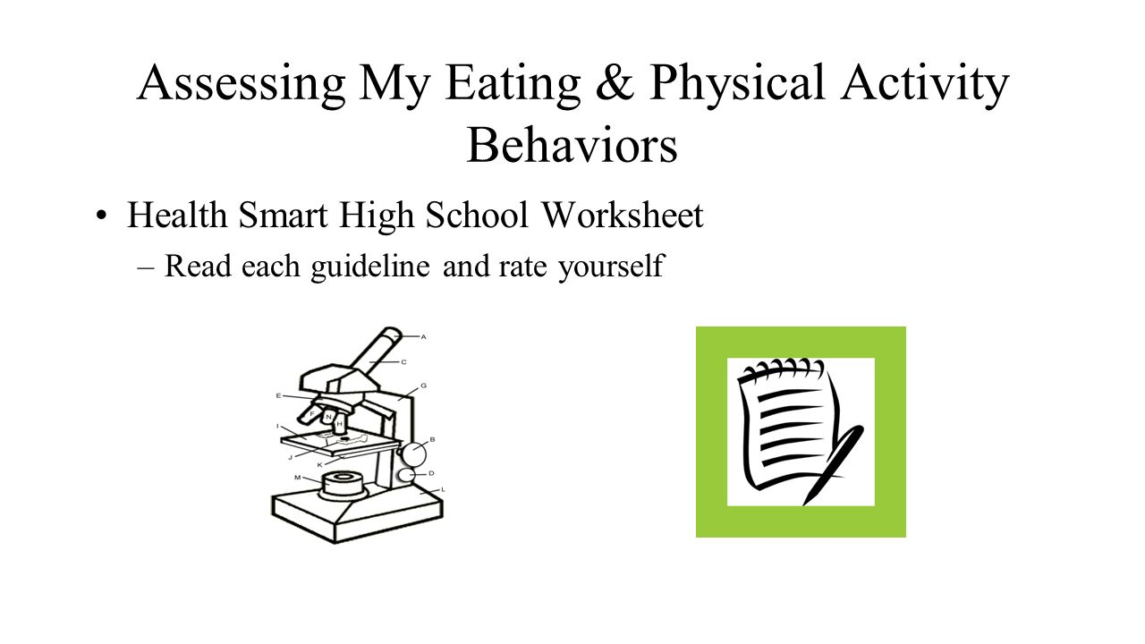 Health and Wellness Nutrition 1 Journal Entry 2 Write a response – High School Health Worksheets