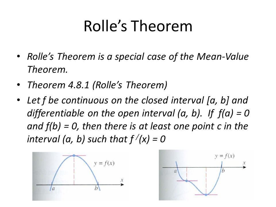 Rolle's Theorem/Mean-Value Theorem Objective: Use and interpret the ...
