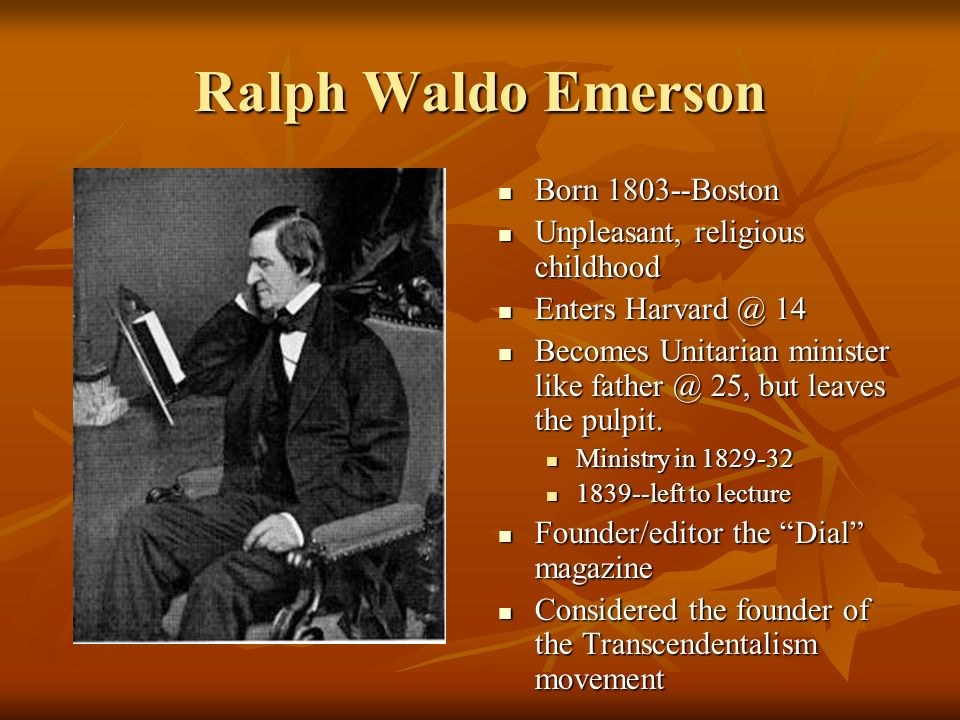 an overview of the ralph waldo emerson and henry david thoreau on the lecture
