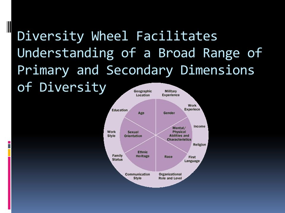 Diversity Wheel Facilitates Understanding of a Broad Range of Primary and Secondary Dimensions of Diversity