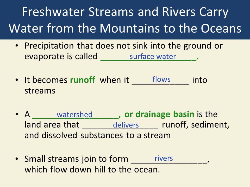 8-4 Why Are Freshwater Ecosystems Important? Concept 8-4 ...