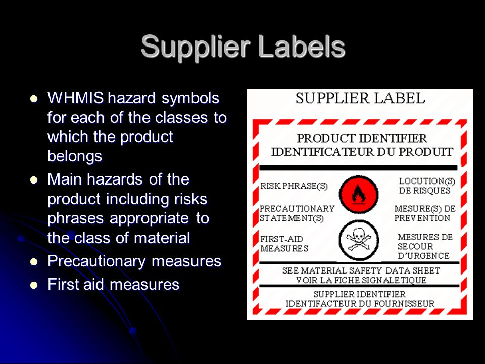 Whmis And Hhps Training Summary Of What You Kneed To Know Ppt