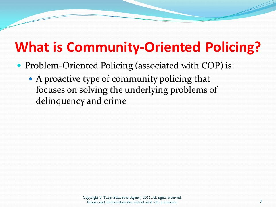 compare and contrast community orientd policing and problem oriented policing The need for problem-oriented community policing and the need for a justice system that can complement this philosophy.