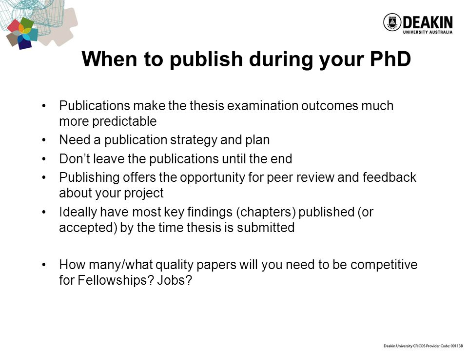 thesis publication sites