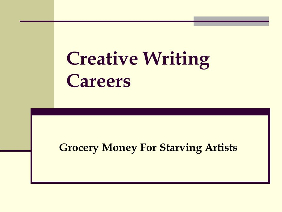 english literature and creative writing careers Top jobs for creative writing majors getting to the bottom of a story as a journalist is great and all, but what if you want your writing to have a little bit more.